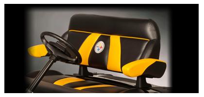 for the footbal fanatic el tigre custom golf cart seats golf cart seats. Black Bedroom Furniture Sets. Home Design Ideas